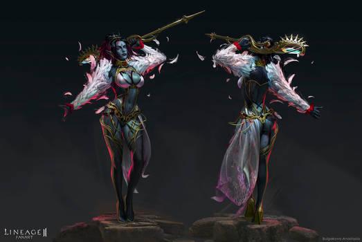 Lineage II: Dark Elf mage
