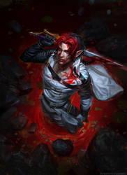 Knee-deep in blood