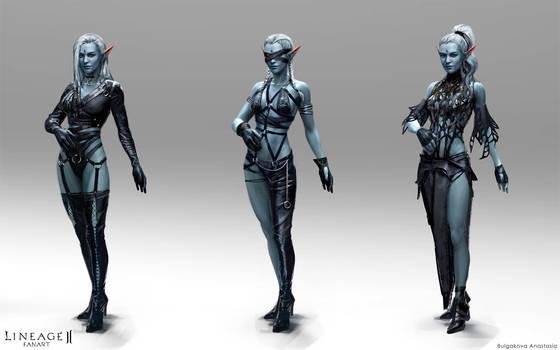 Lineage II: dark elves (female P.2)