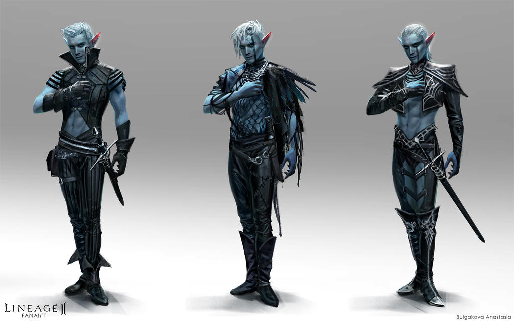 Lineage II: dark elves (male P.2)