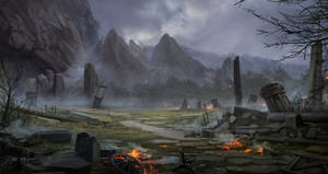 Lineage II: Dark Elves village