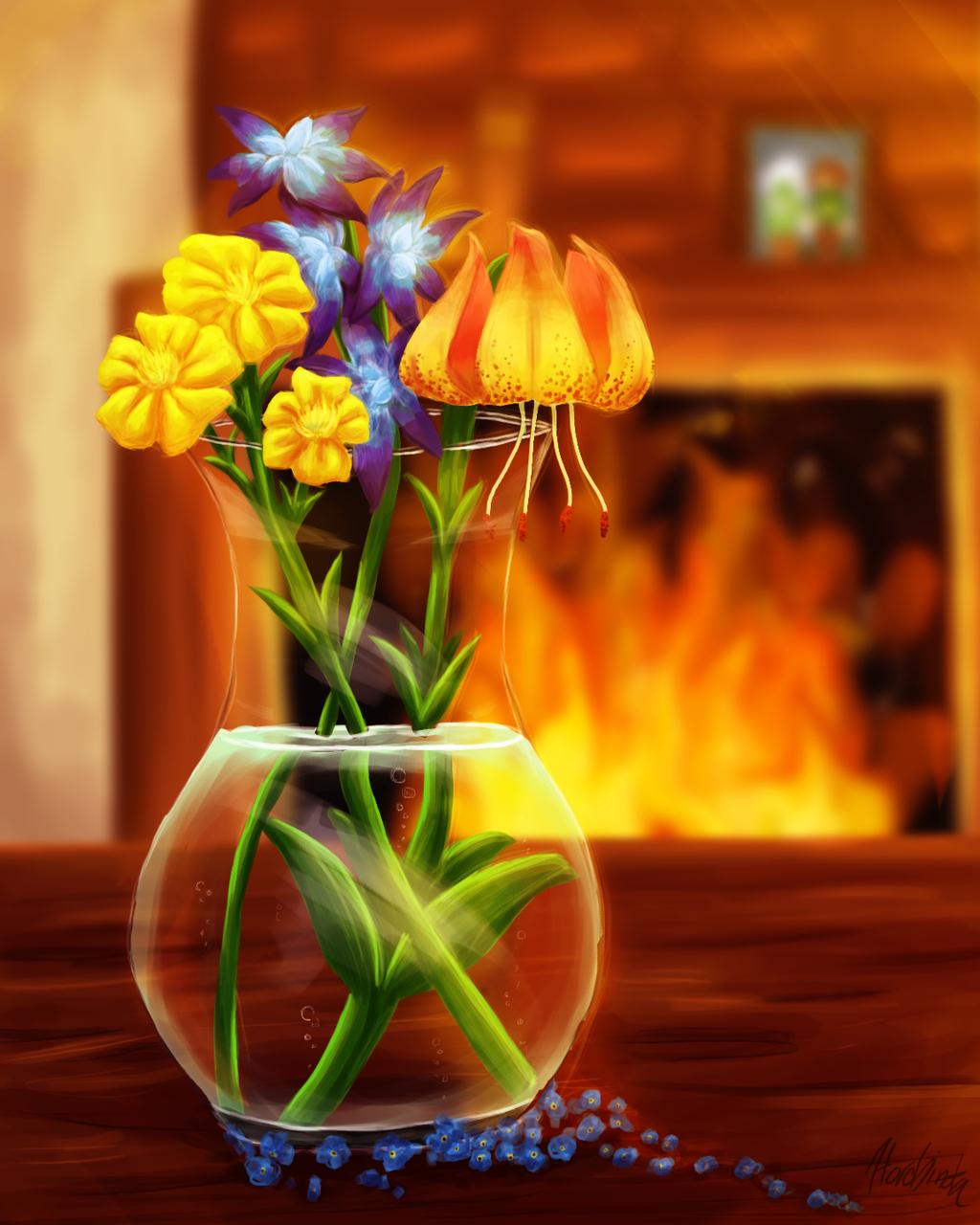 Flowers for Mom by Horobinota on DeviantArt