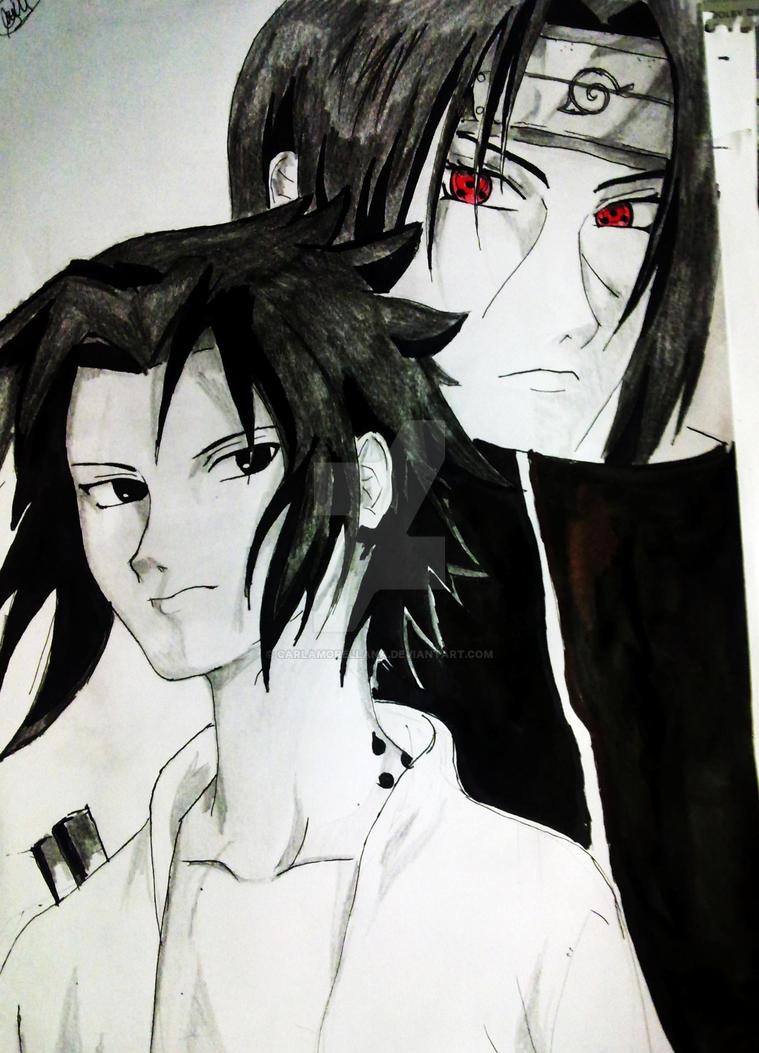 The brothers Uchiha Sasuke and Itachi by CarlaMOrellana