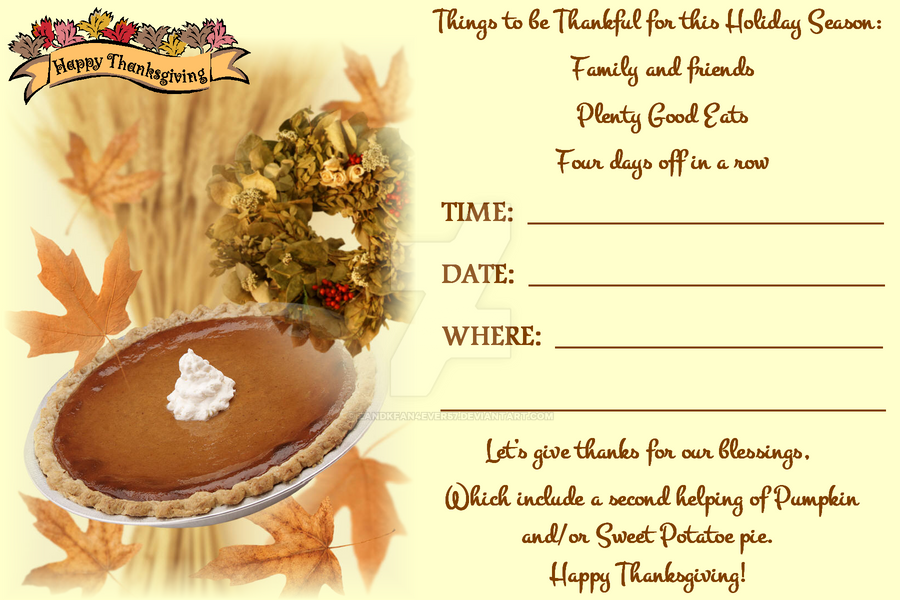 Thanksgiving invitation background northurthwall thanksgiving invitation iv by zandkfan4ever57 on deviantart stopboris Gallery