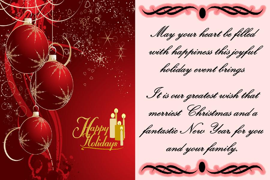 Merry Christmas Cards Sayings ebiznesinfo – Words for Christmas Card