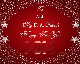 Happy New Year DA 2013! by ZandKfan4ever57