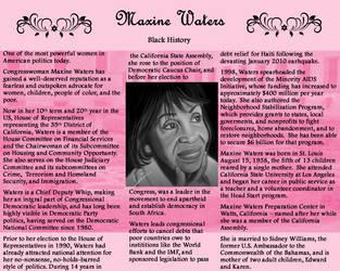 Maxine Waters by ZandKfan4ever57