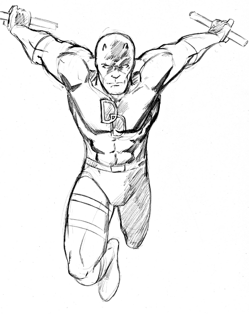 Daredevil sketches for coloring pages for Daredevil coloring pages