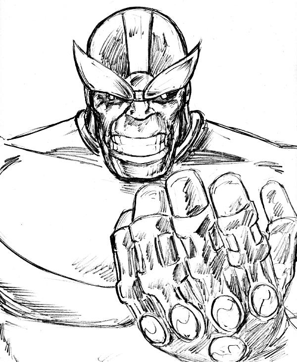 Thanos Sketch By 3XLT ...