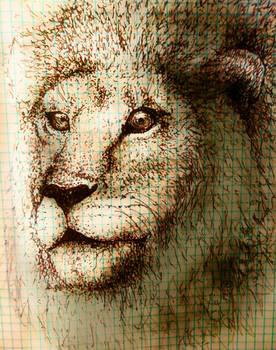 Graph Paper Lion