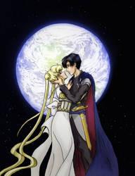 Sailor Moon: Prince Endymion and Princess Serenity by noblewebs