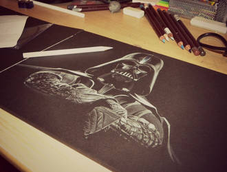 Darth Vader waiting for colour