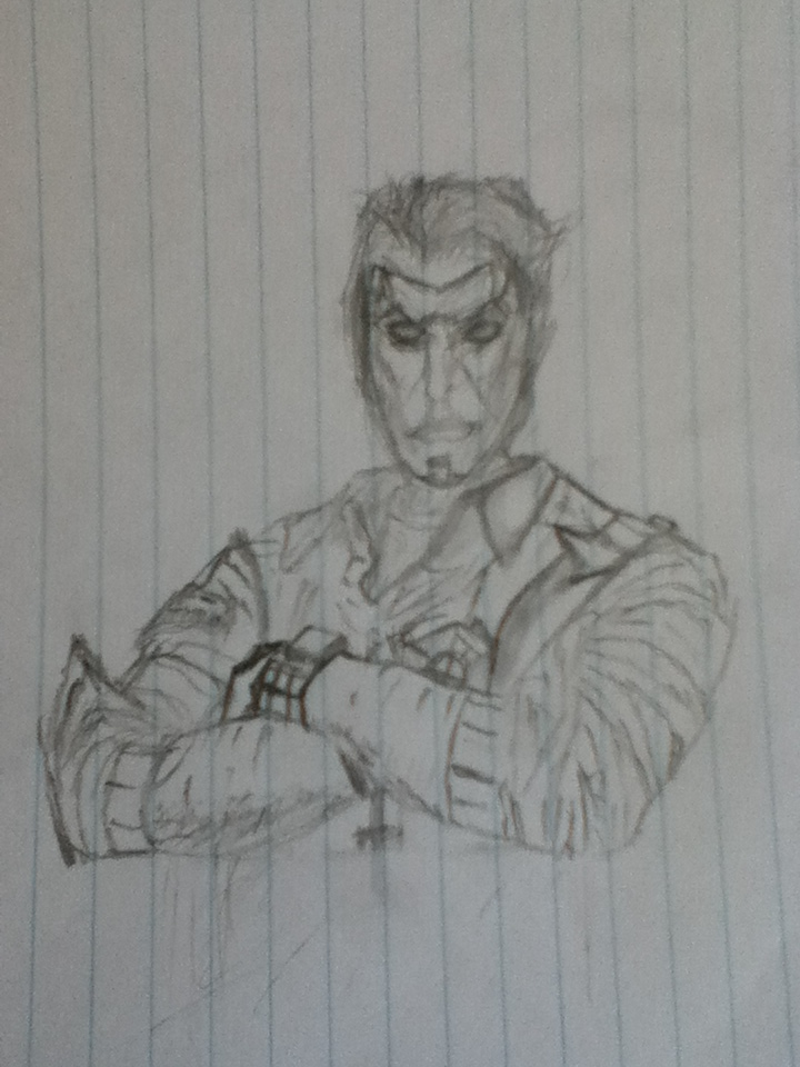 Borderlands 2 Handsome Jack drawing by Stainlezz