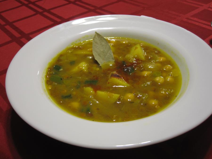 Curried Lentil Soup With Chickpea Purée Recipes — Dishmaps