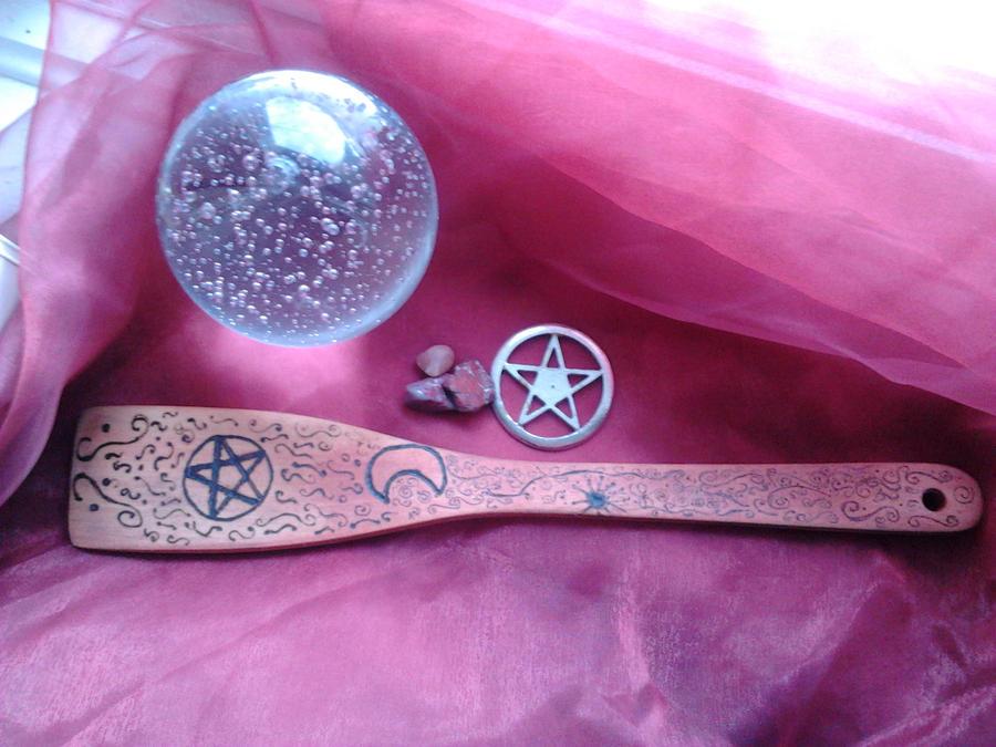Tribal Kitchen Witch Spoon by Sekem-Miw