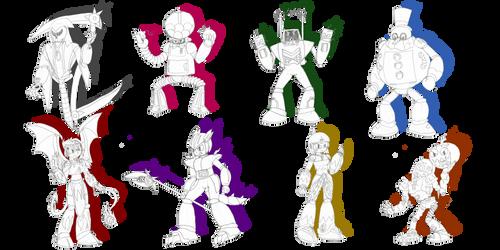 MegaMan Gaiden - The 8 Robot Masters by IvoRobotnikSBZ