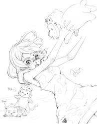 Sketch.4  Cow 'n' Tiger by Weiss-gatto