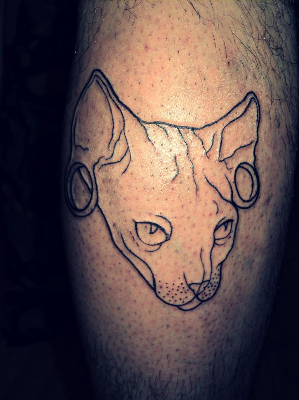 Sphynx cat tattoo by sunshart on deviantart for Hairless cat tattoo
