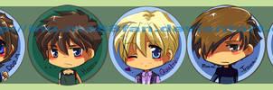 +buttons+ Gundam Wing set