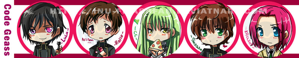 Code geass button set by jinyjin