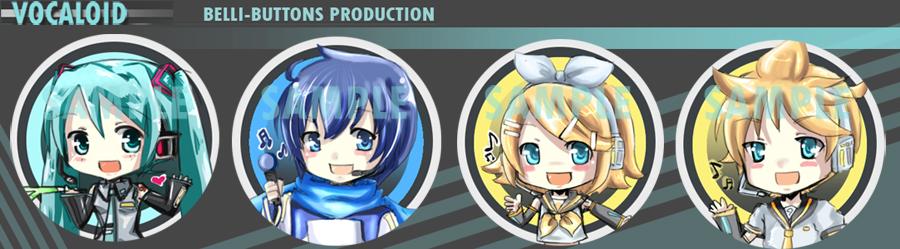Vocaloid +buttons+ by jinyjin