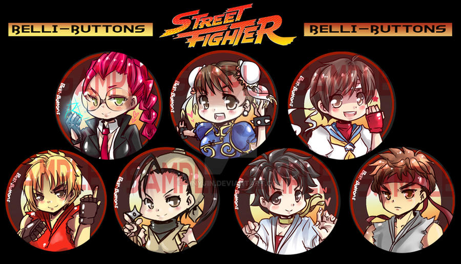 Street Fighter Button set by jinyjin