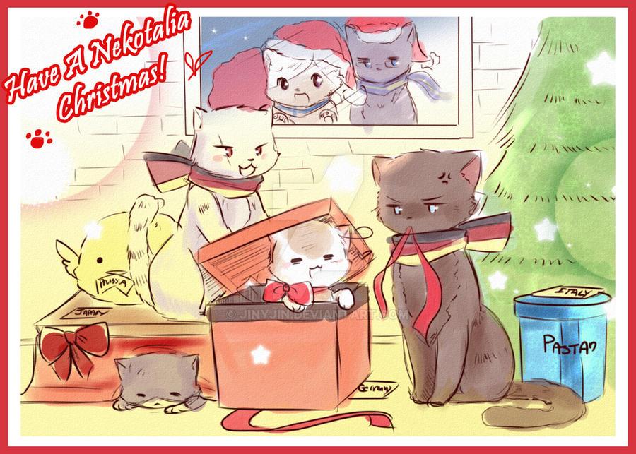 Nekotalia Christmas by jinyjin