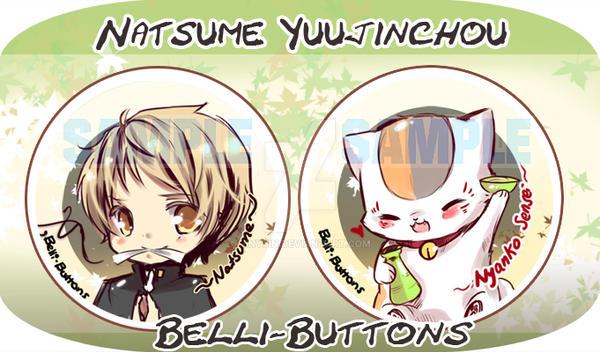 Natsume Yuujinchou Button Set by jinyjin