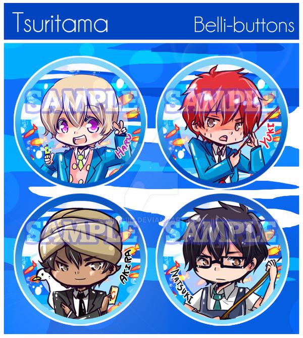 Tsuritama Buttons by jinyjin