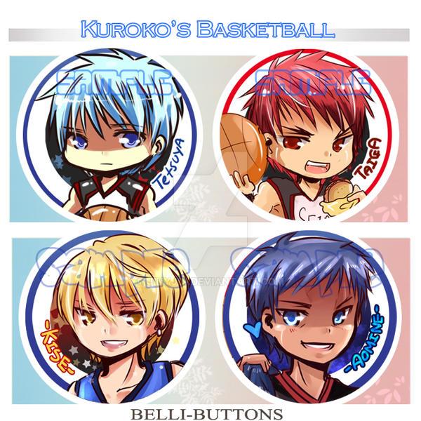 Kuroko no Basket Buttons by jinyjin