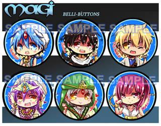 Magi Button Set by jinyjin