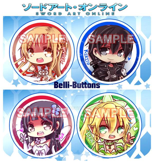 Sword Art Online Button Set by jinyjin