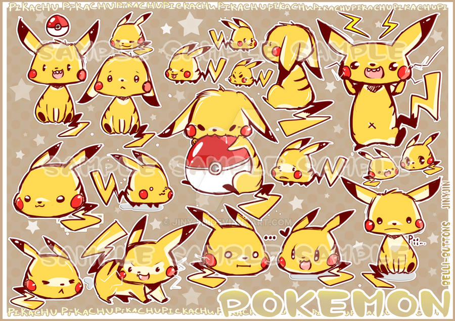 Pikachu Madness stickers by jinyjin