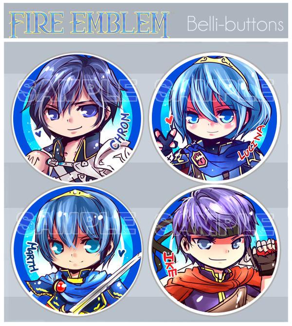 Fire Emblem Buttons by jinyjin