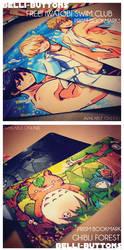 New Prism bookmarks - Free! + Ghibli by jinyjin