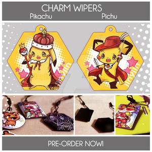 Charm Wipers: Pikachu and Pichu