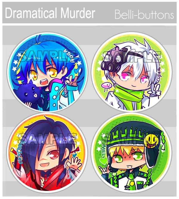 Dramatical Murder button set by jinyjin