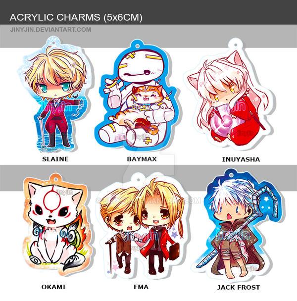 Acrylic Charms 5 by 6cm by jinyjin