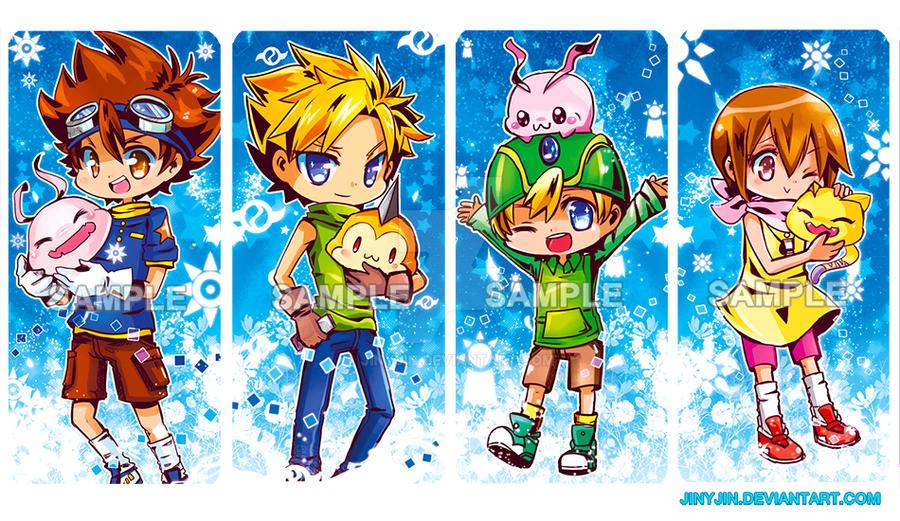 Digimon Bookmarks by jinyjin