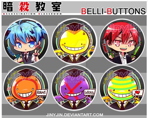 Assassination Classroom Buttons by jinyjin
