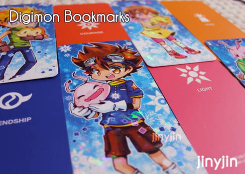 Digimon Bookmarks (Prism double sided color)