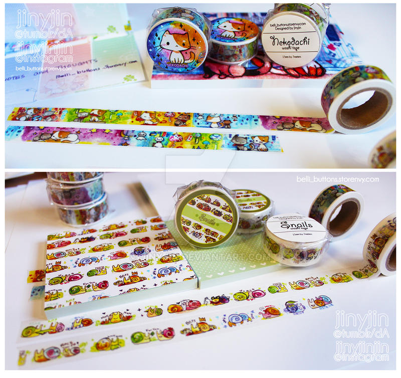 Washi Tape (Nekodachi/Snails) by jinyjin