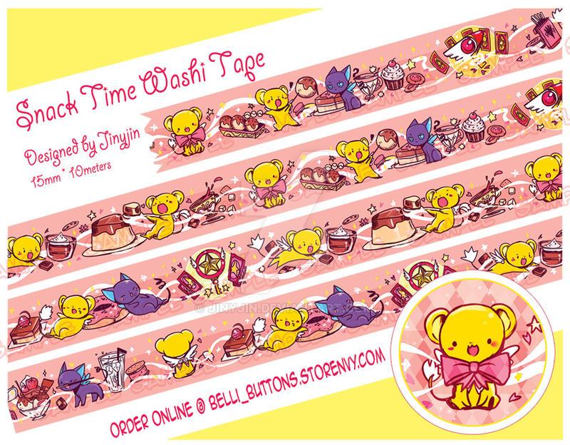 PRE-ORDER CCS Keros Snack time Washi Tape by jinyjin