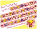PRE-ORDER CCS Keros Snack time Washi Tape by jinyjin