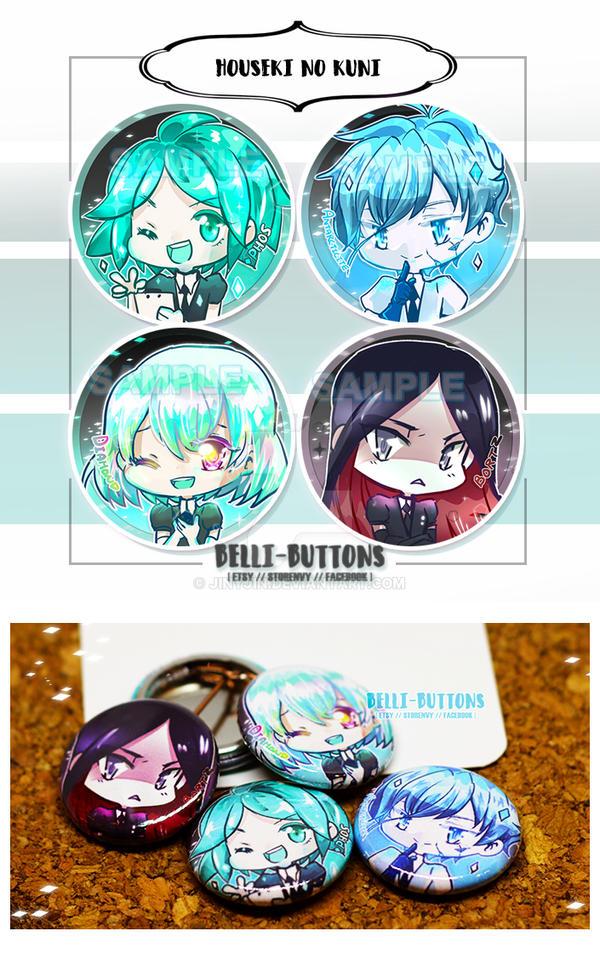 Houseki no Kuni Button set by jinyjin