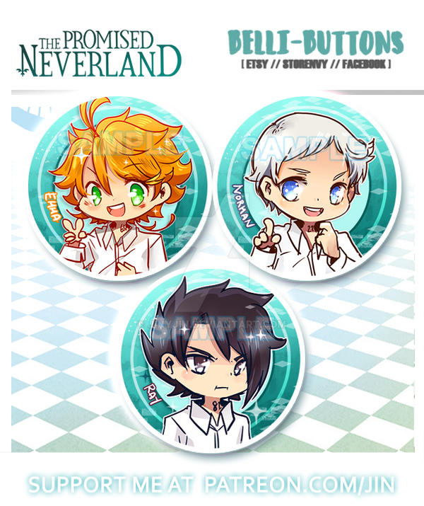 The Promised Neverland Button set by jinyjin