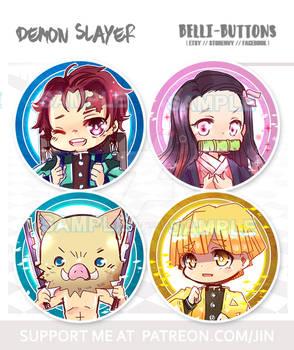 Demon Slayer kimetsu no yaiba Button Set (4)