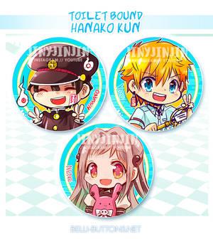 Toilet bound Hanako Kun button set