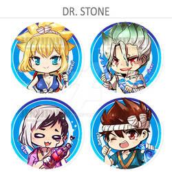 Dr. Stone button set