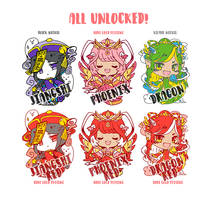 Pre-Order: Mythical cuties from China enamel pins